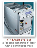 KTP laser system was a second generation laser with a continuous wave